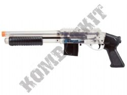 S+W M3000+ Airsoft BB Gun Black and Clear Official Model